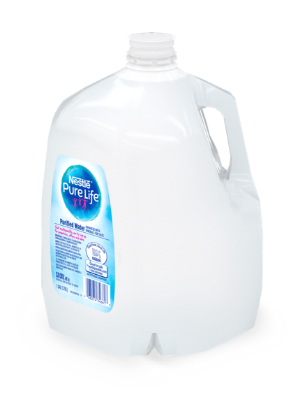 1gallon bottle of nestle pure life purified water