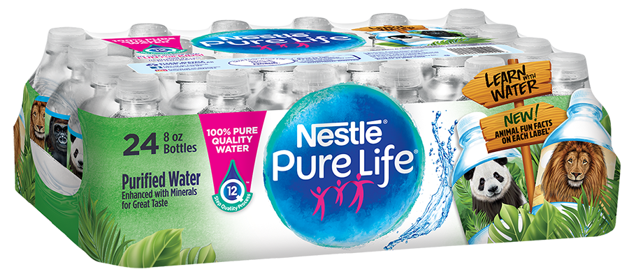 8 oz Mini Purified Bottled Water | Nestlé Pure Life
