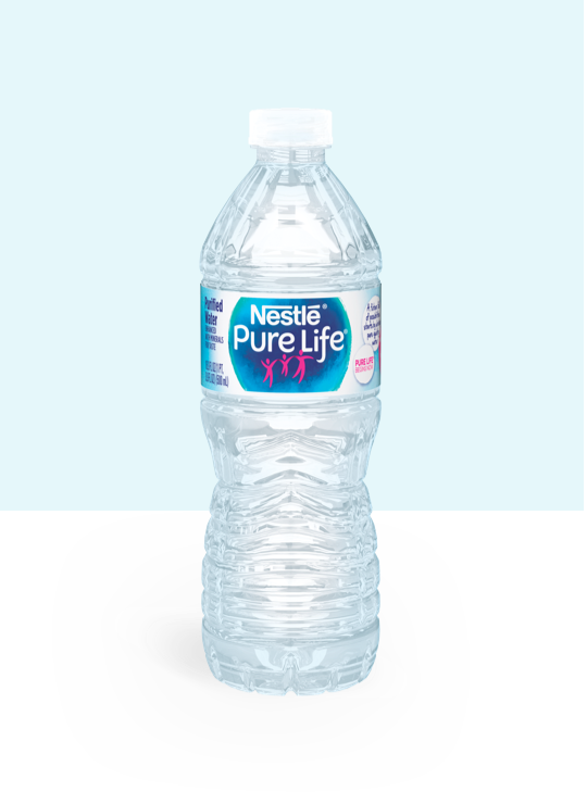 16.9 oz bottle of nestle pure life purified water