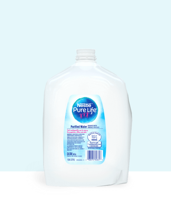 1 gallon jug of nestle pure life purified water