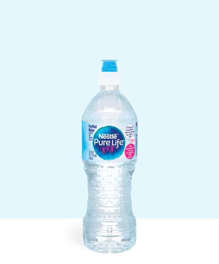 23.7 oz sport cap bottle of nestle pure life purified water